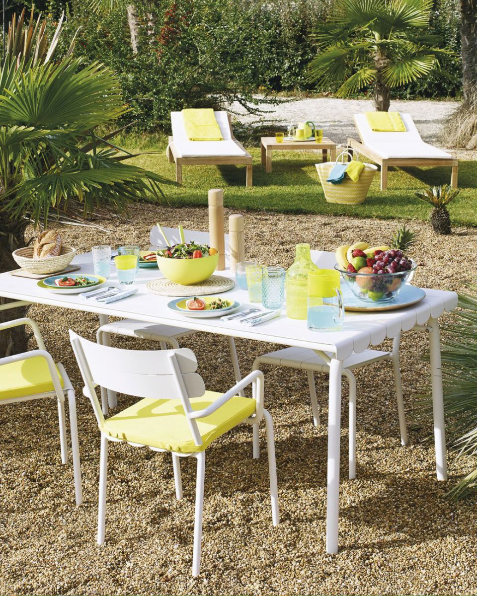 table jardin metal