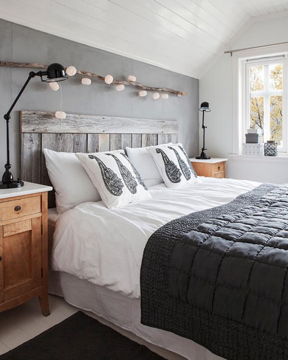 deco gris couvre lit