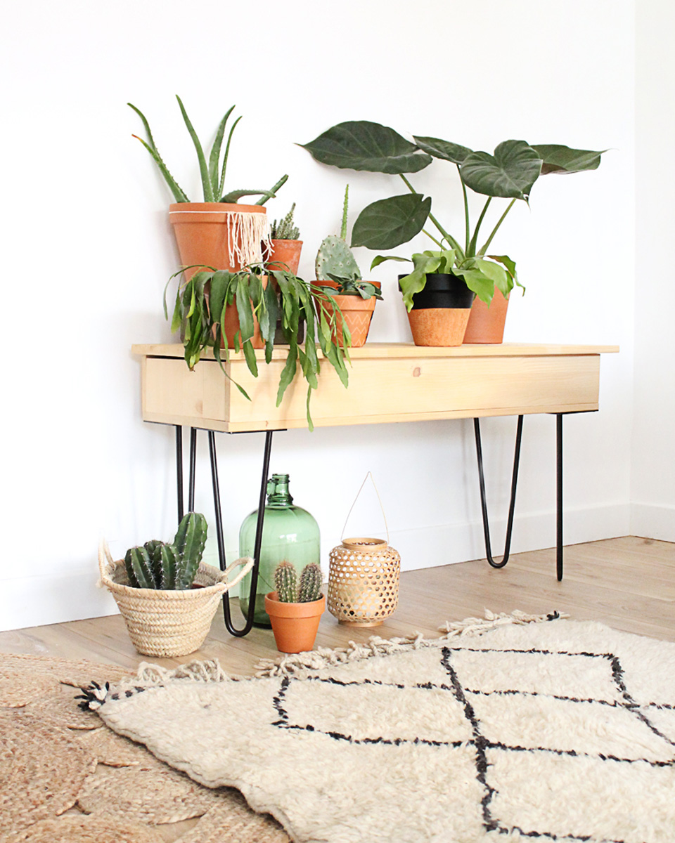diy pied epingle table appoint