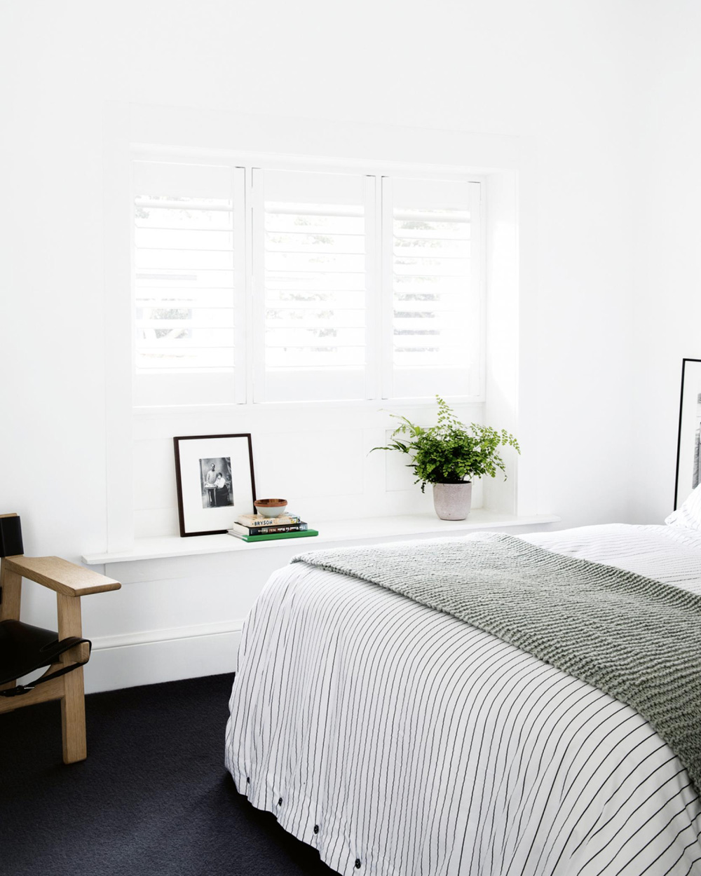 chambre épurée et moderne