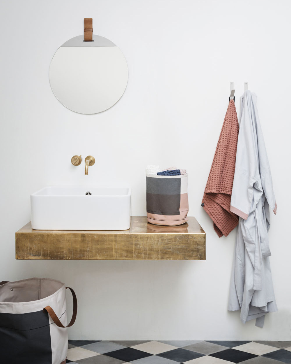 vasque suspendue sur bois