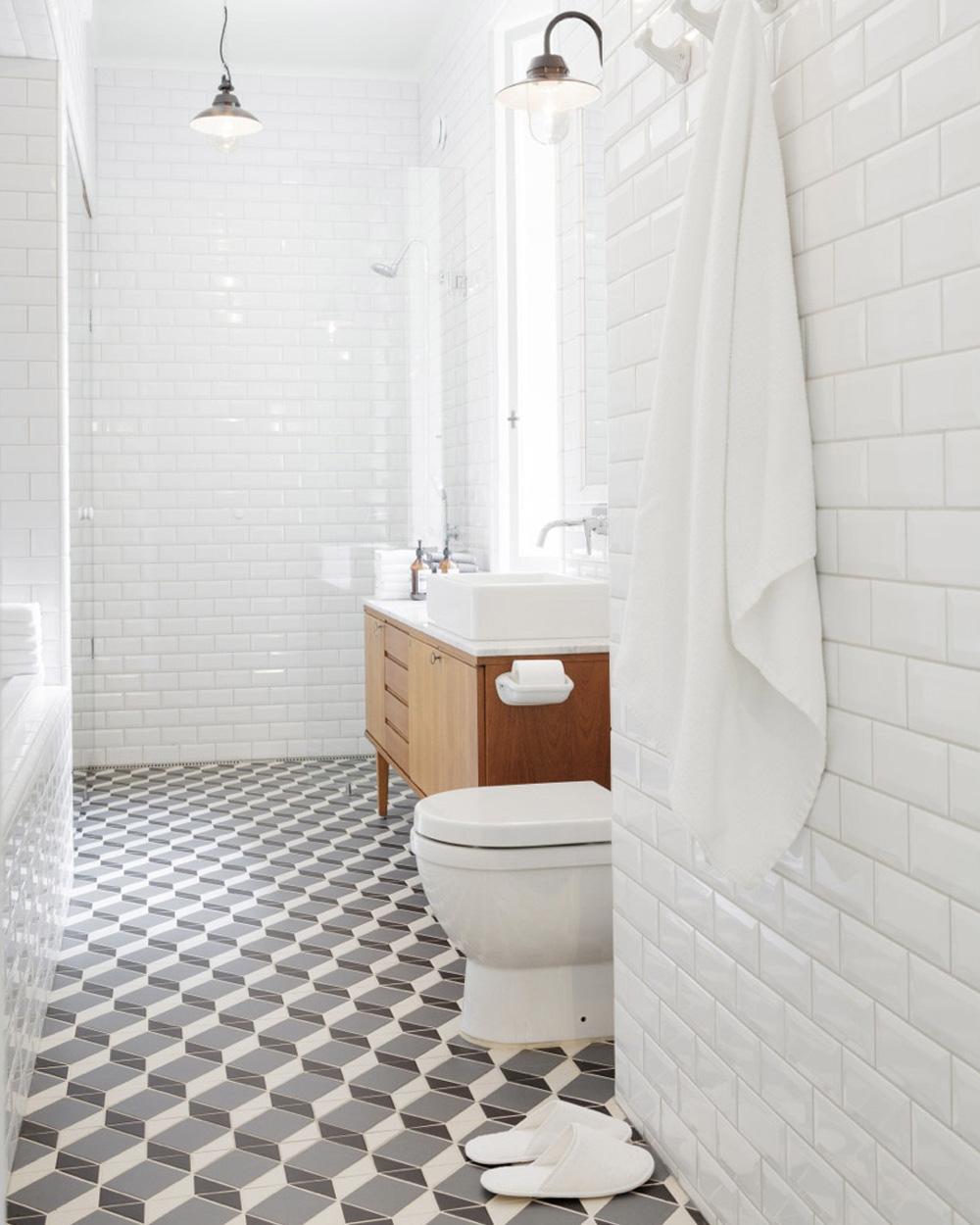 enfilade scandinave dans salle de bain