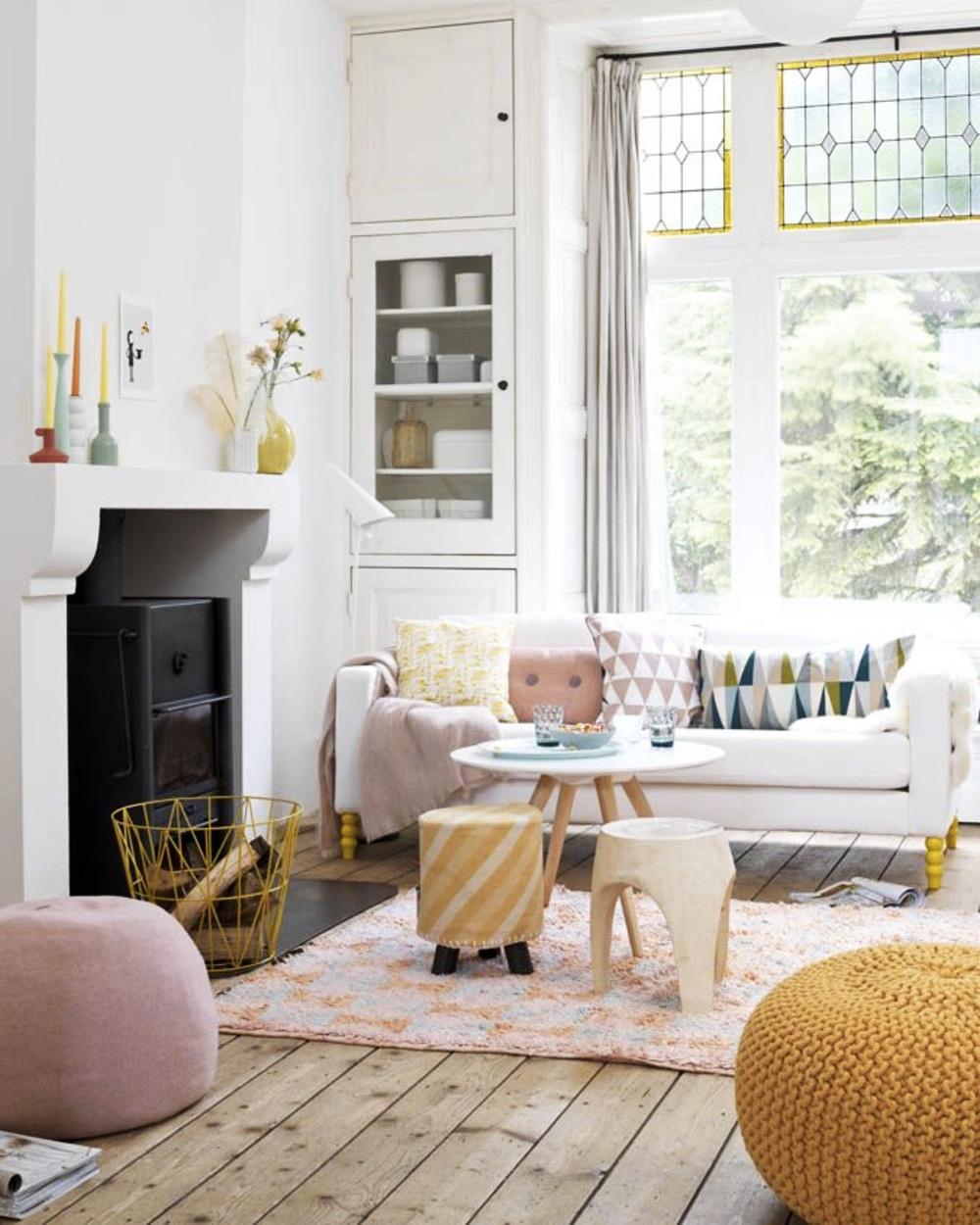 Deco Salon Rose Poudré Et Gris associer le rose et le jaune dans sa déco | shake my blog