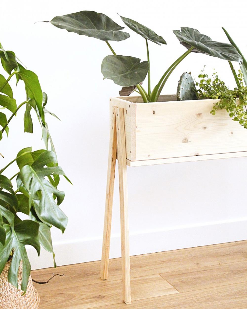 diy bois jardinière