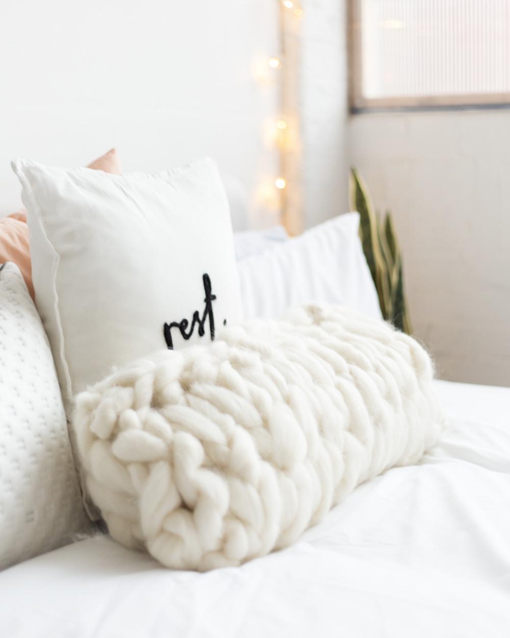diy pinterest chambre coussin tricot