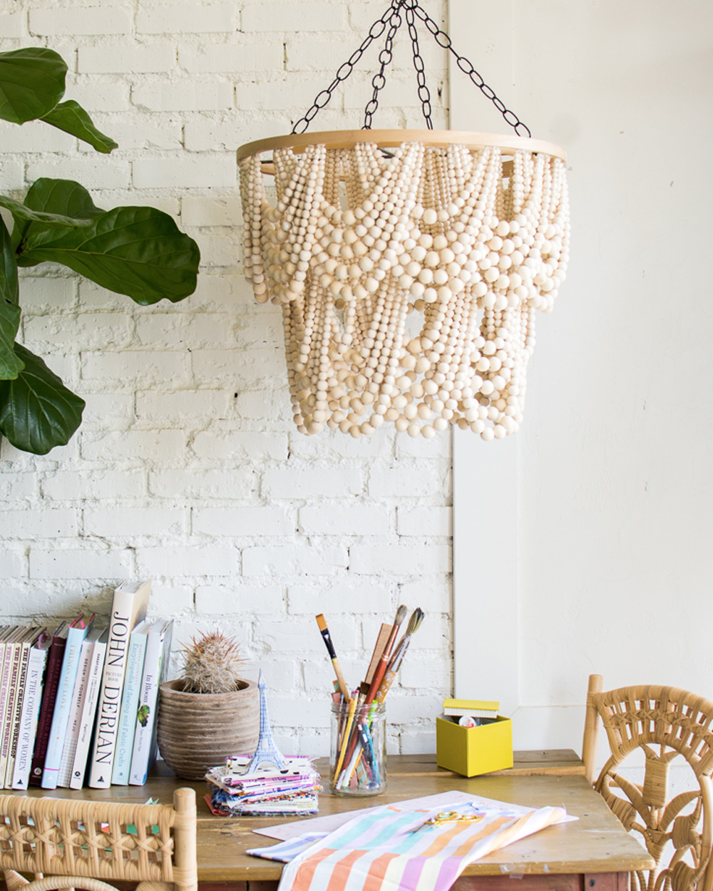 diy pinterest salon suspension perles