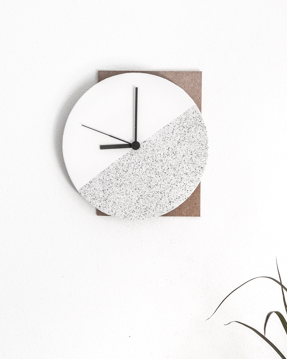 horloge diy contemporaine