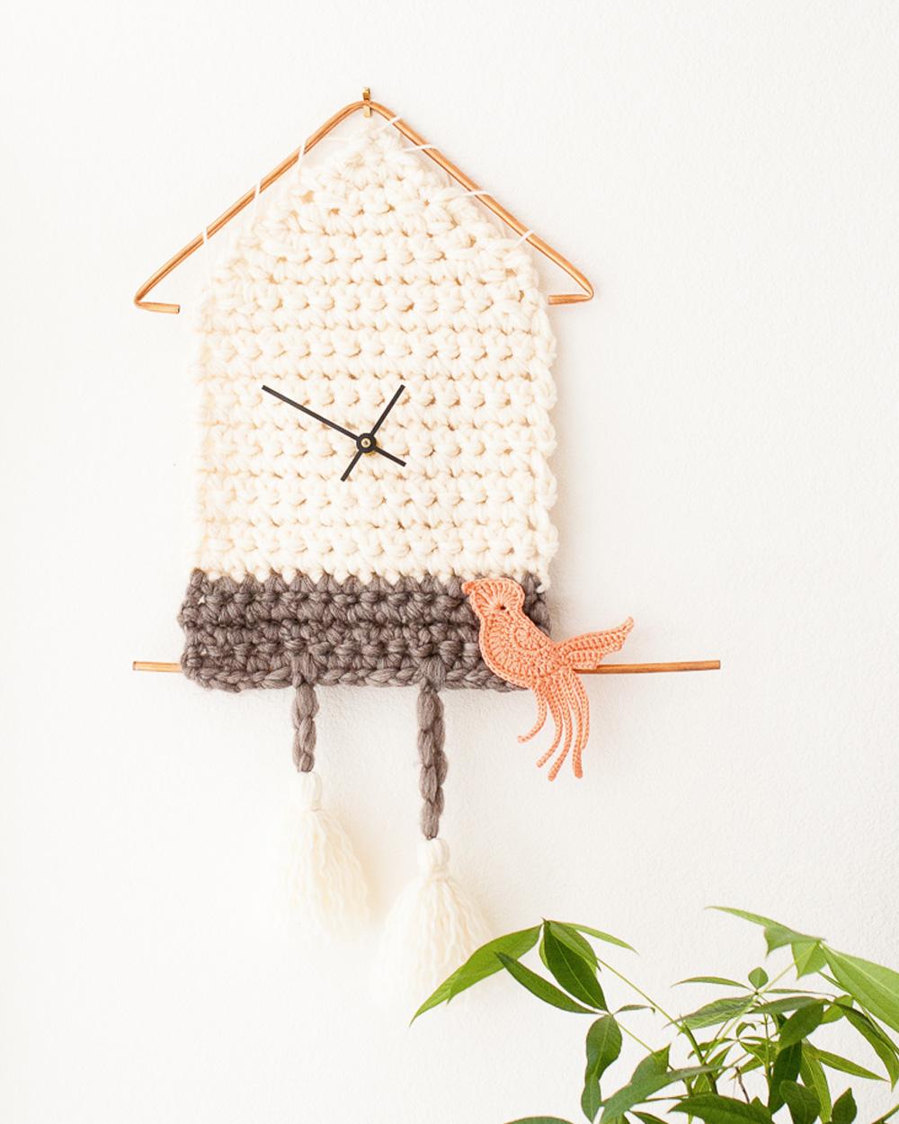 horloge diy tricot