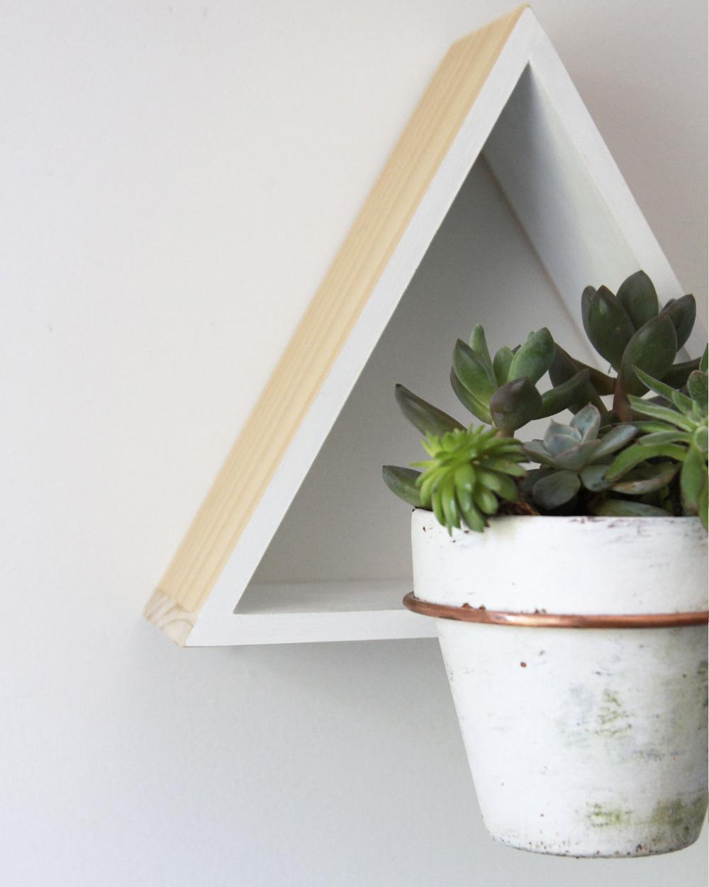suspension plante diy triangle