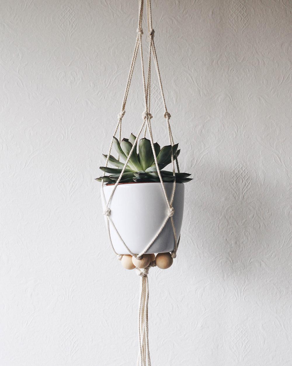 suspension plante diy macramé