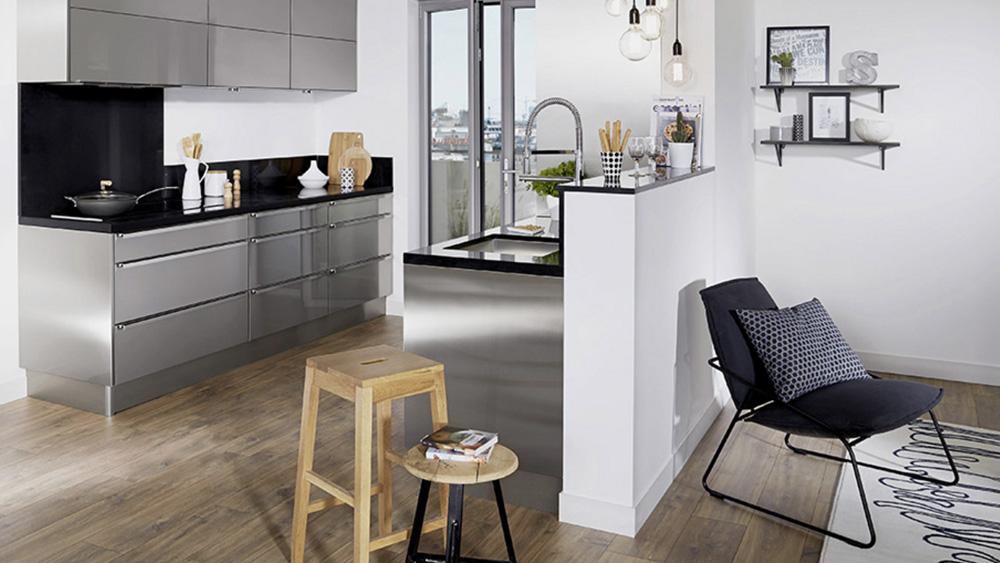 cuisine moderne noir bois