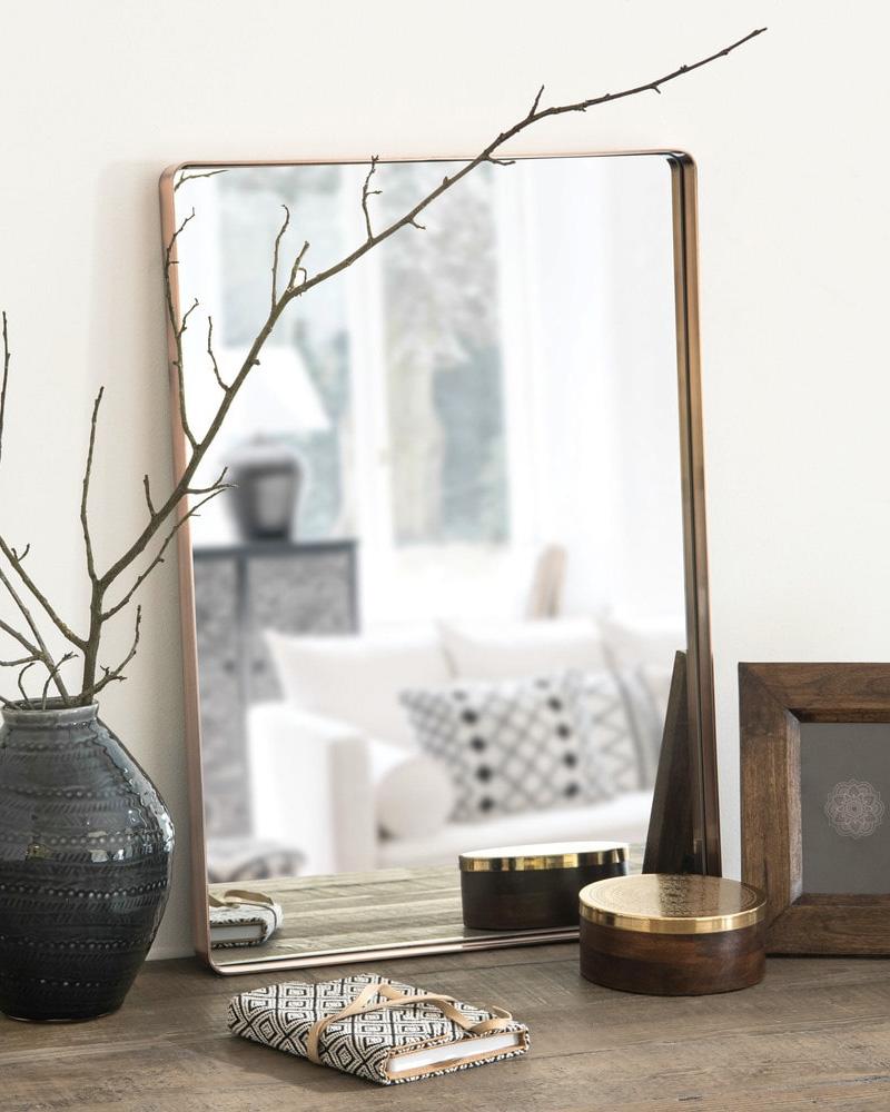 deco cuivre miroir