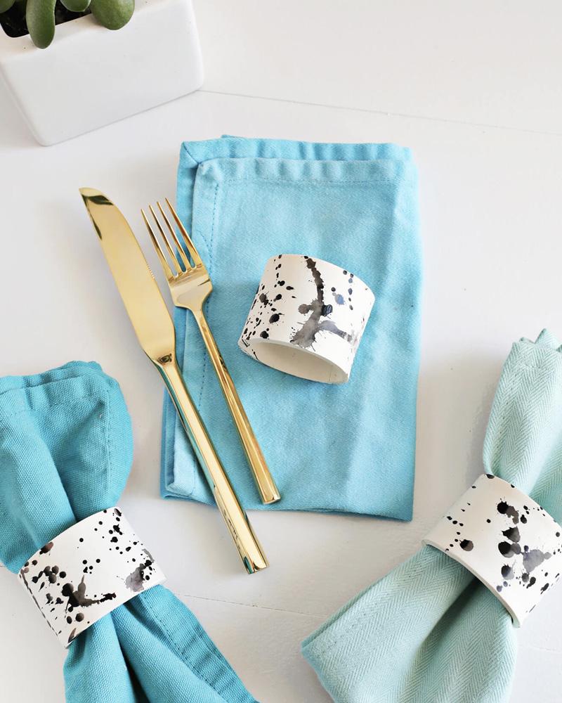 Rond De Serviette A Fabriquer Pour Noel 9 idées diy pour décorer votre table | shake my blog