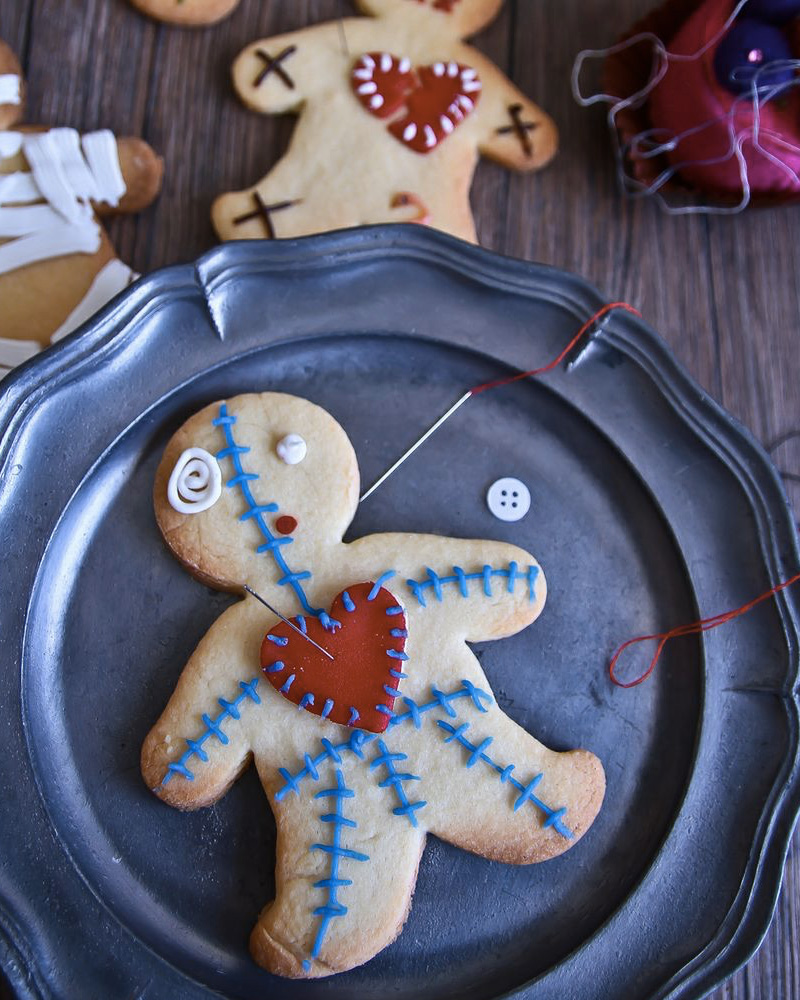 recette halloween cookie poupée voodoo