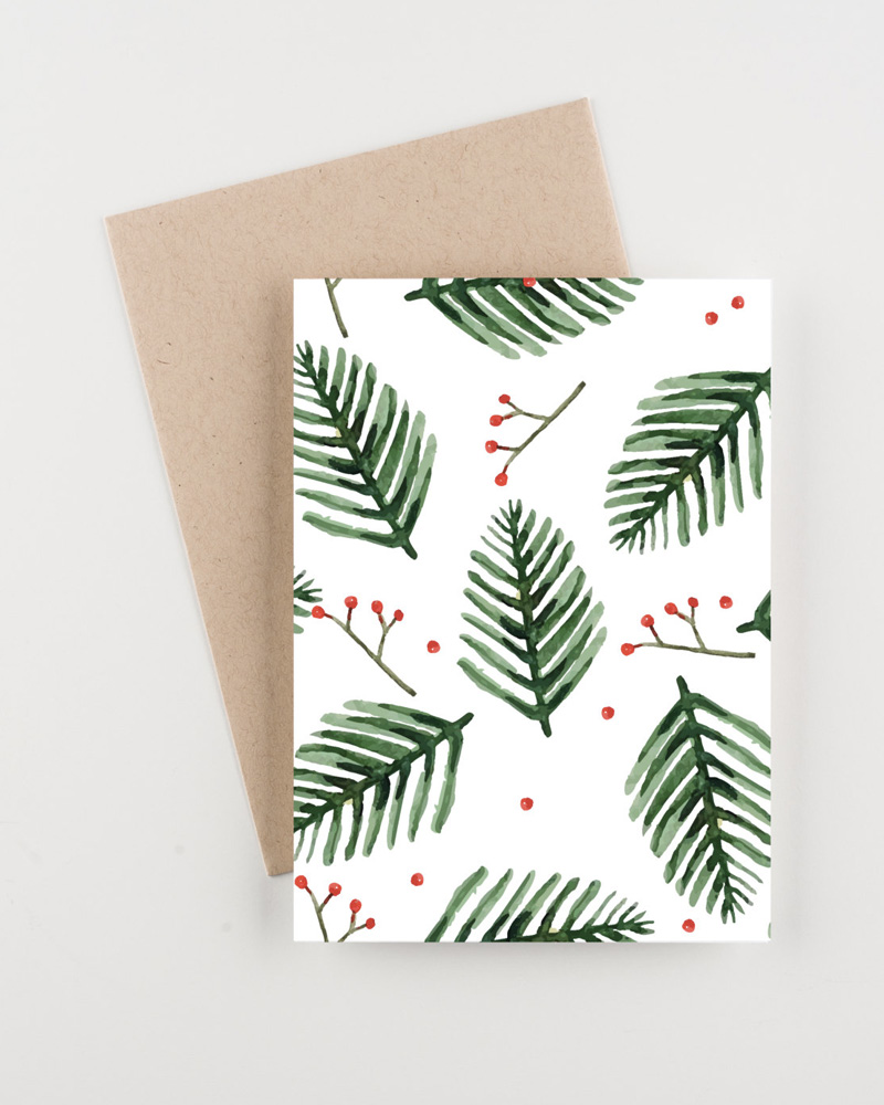 carte noel diy a imprimer illustration