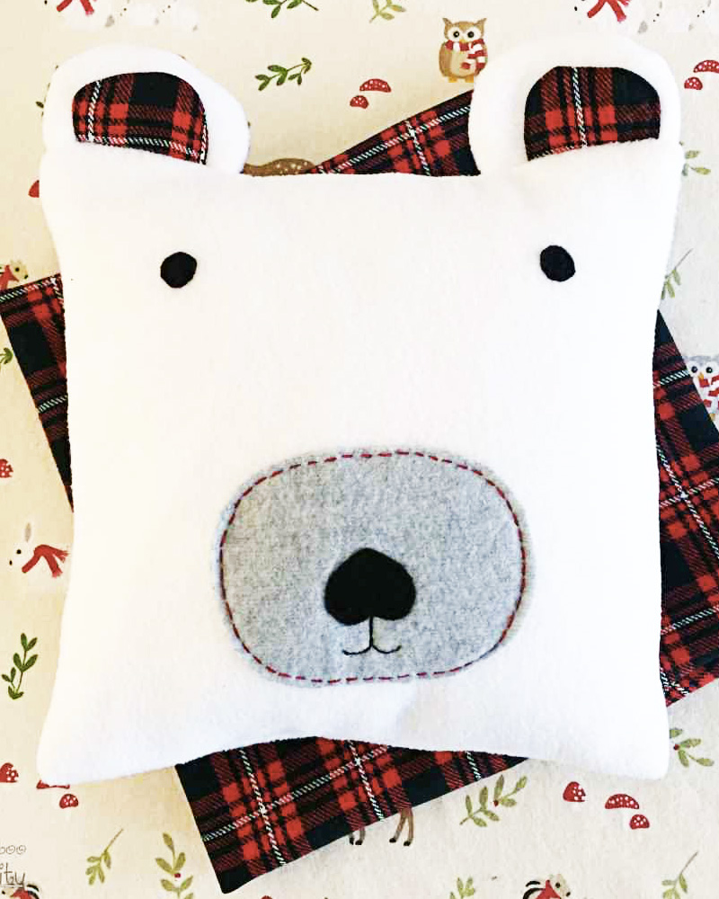coussin diy noel ours