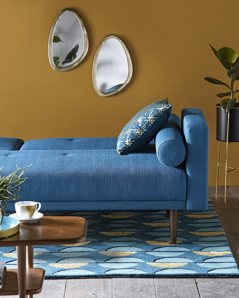 deco salon bleu canapé
