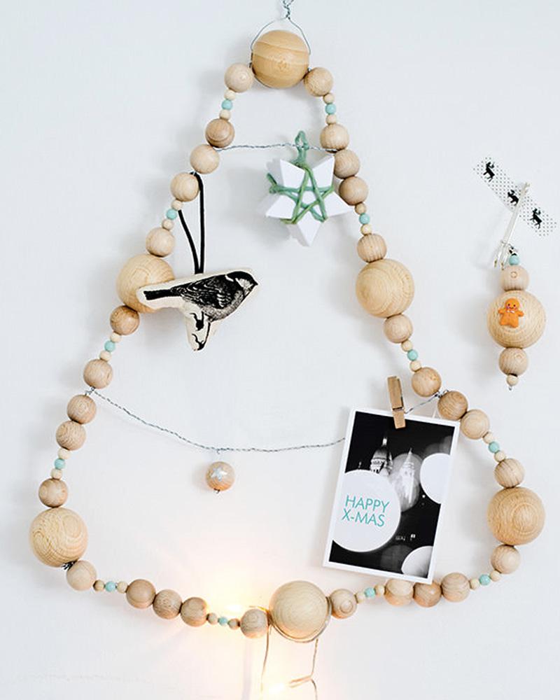 sapin original diy noel perles en bois