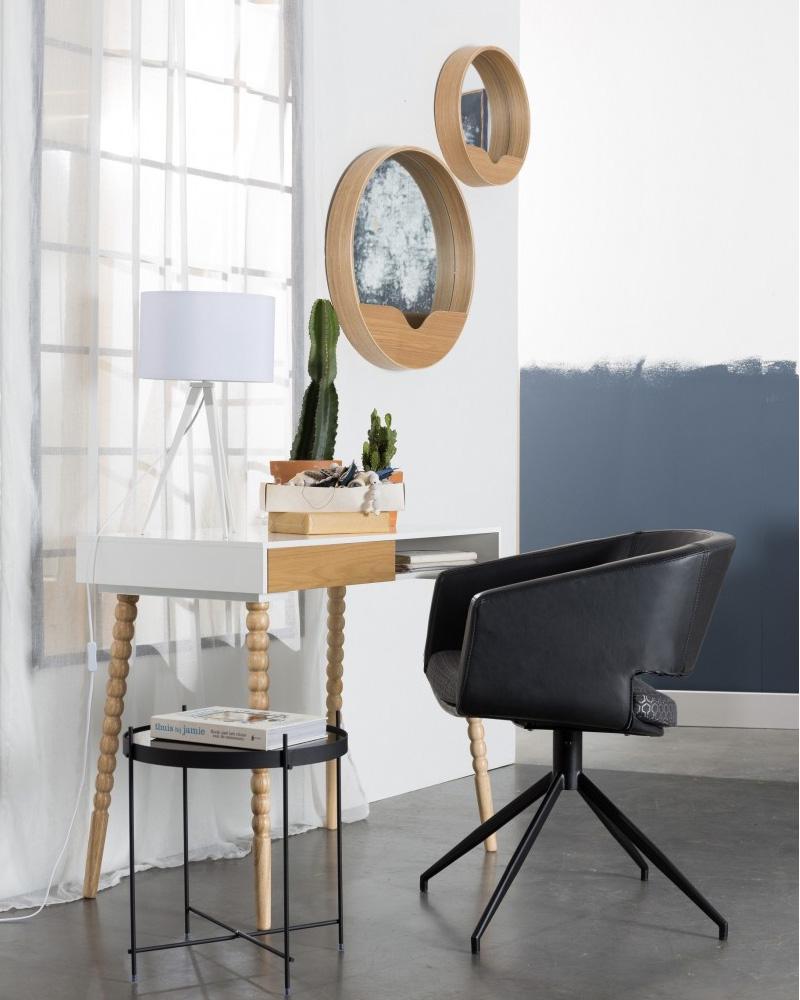 miroir rond boite a design