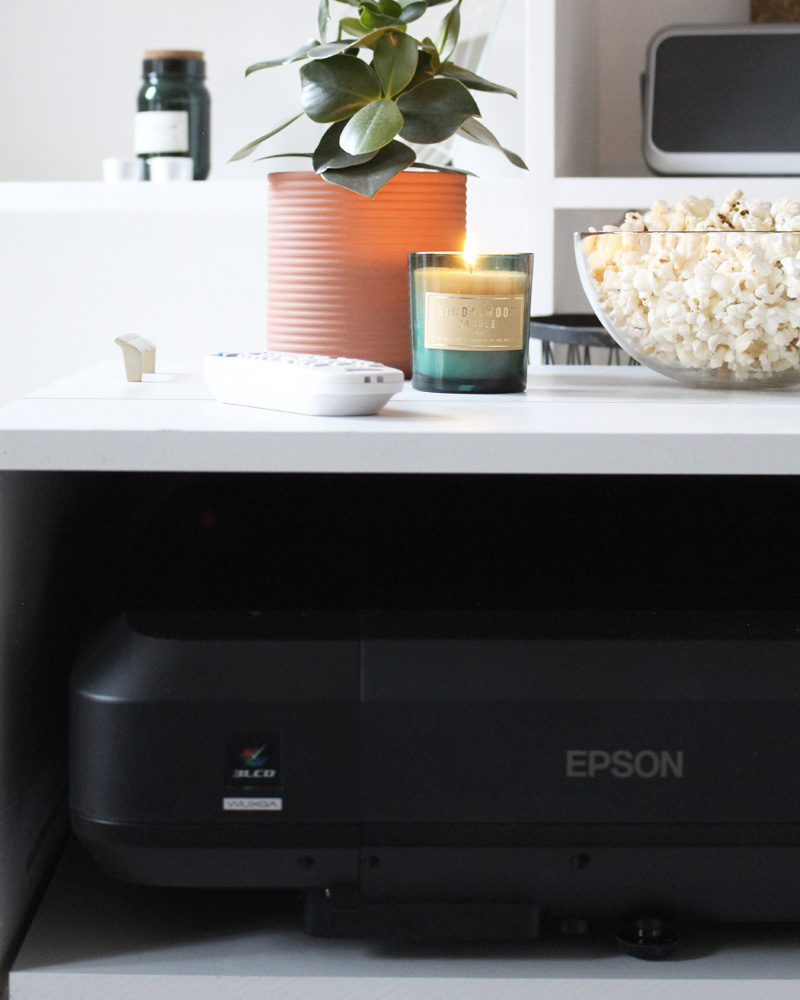 meuble tv cinema diy epson