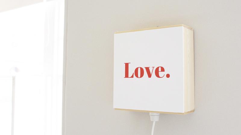 boite message saint valentin diy