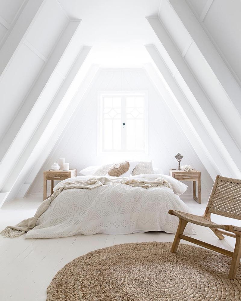deco chambre lumineuse bois