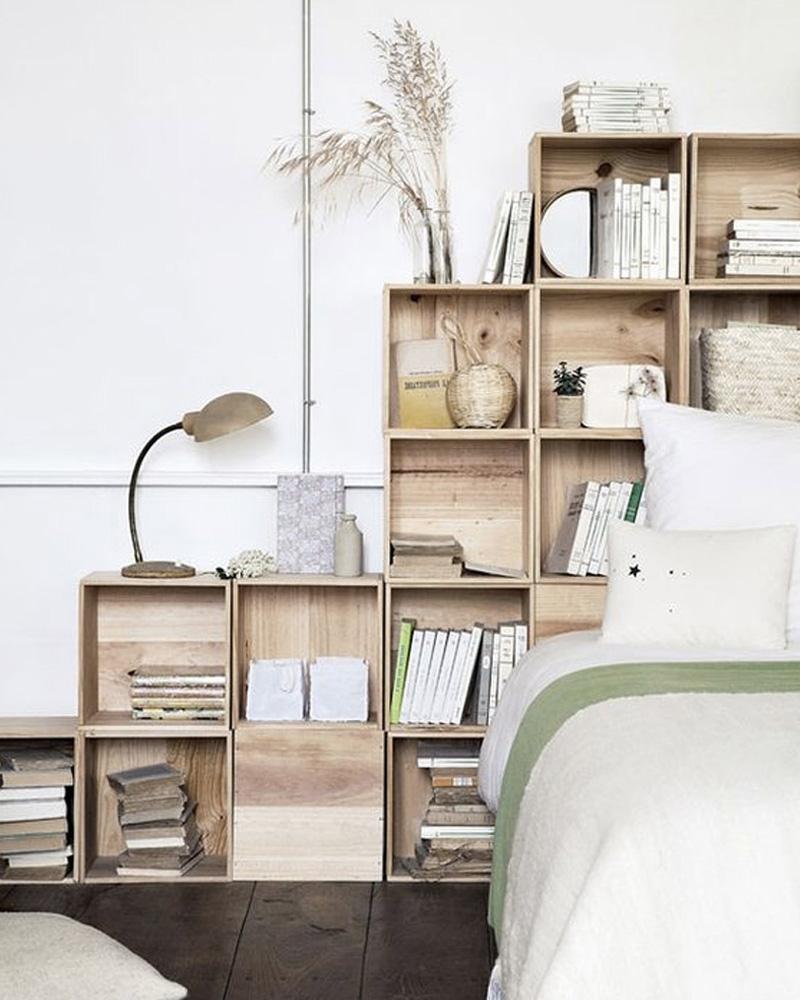idée déco bois chambre caisse en bois