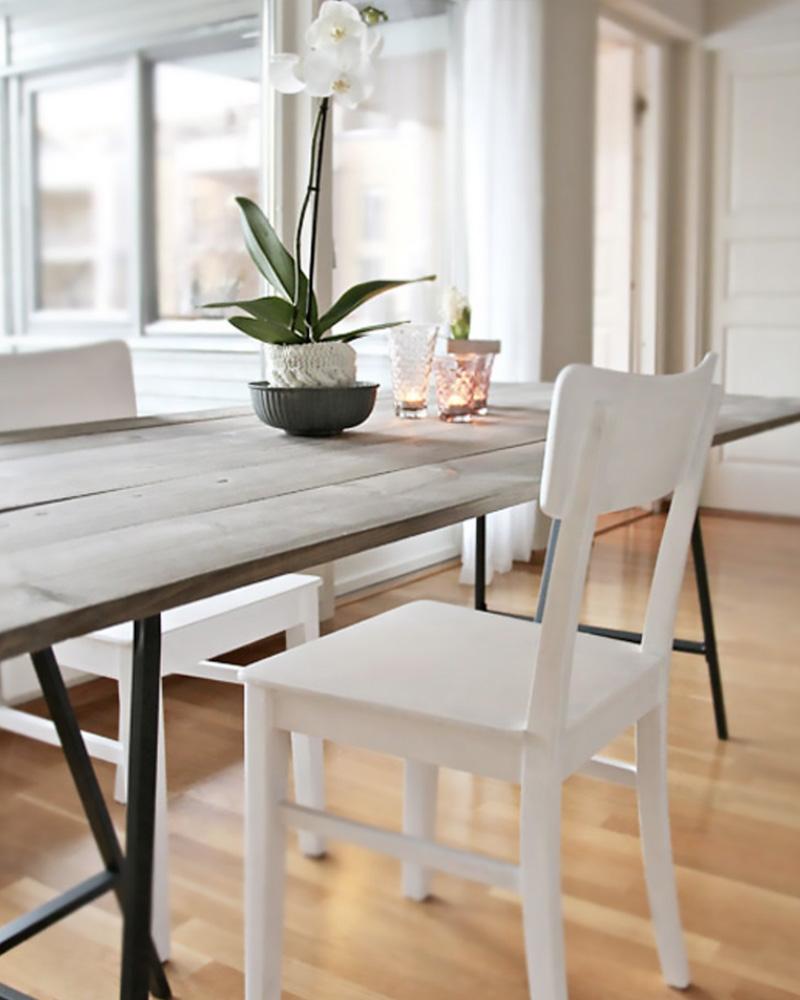 table salle à manger diy tréteaux