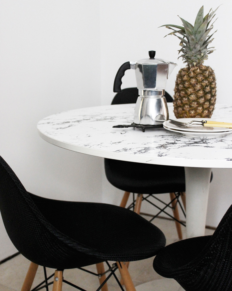 table salle à manger diy marbre