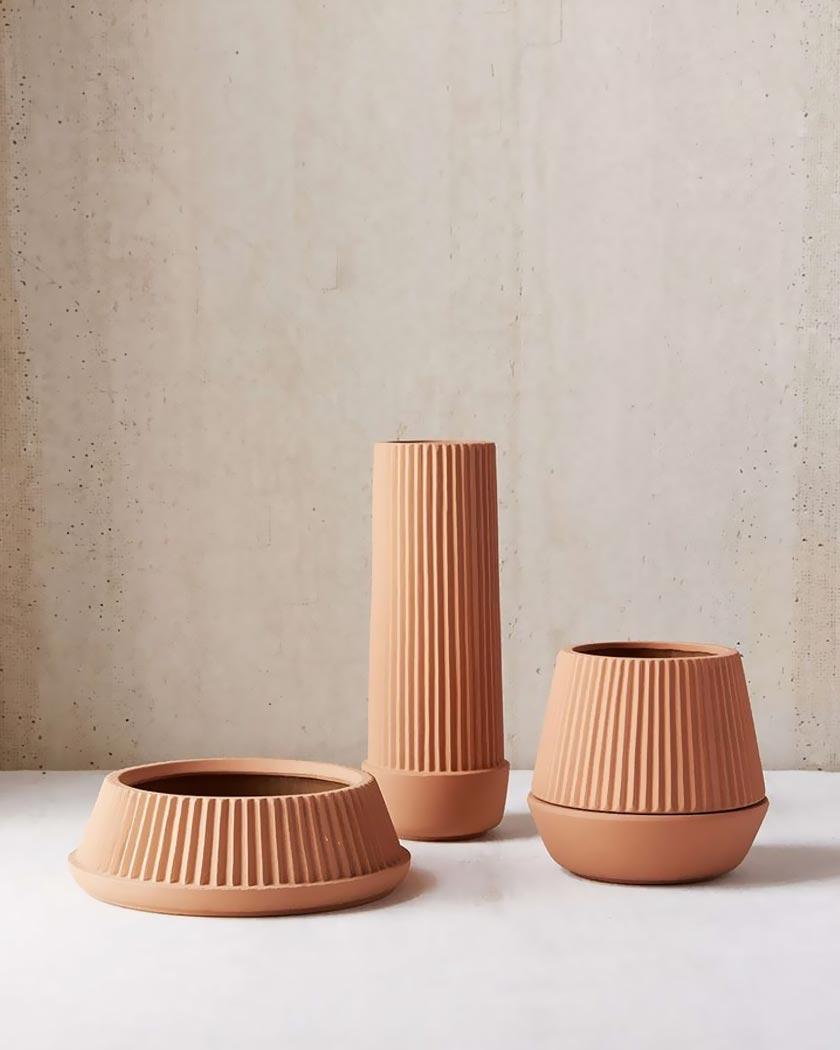 deco couleur terracotta pot cuisine moderne