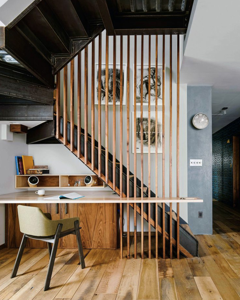 aménager sous escalier bureau