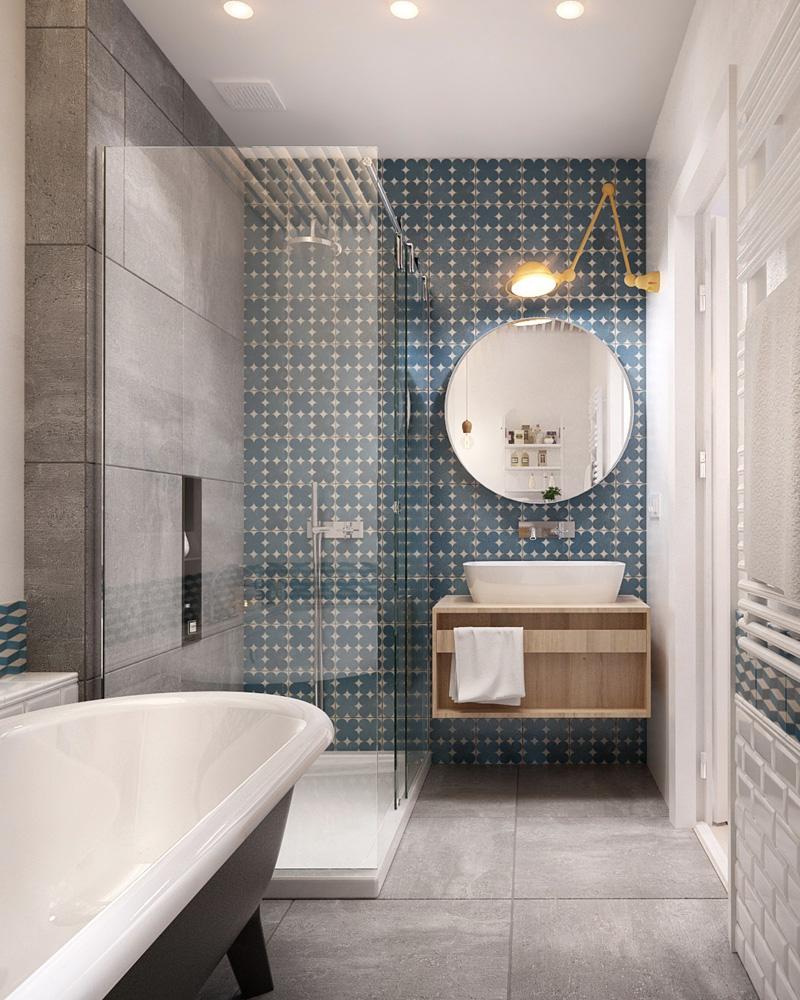 Deco Carreaux De Ciment Salle De Bain des carreaux de ciment dans la déco de la salle de bain