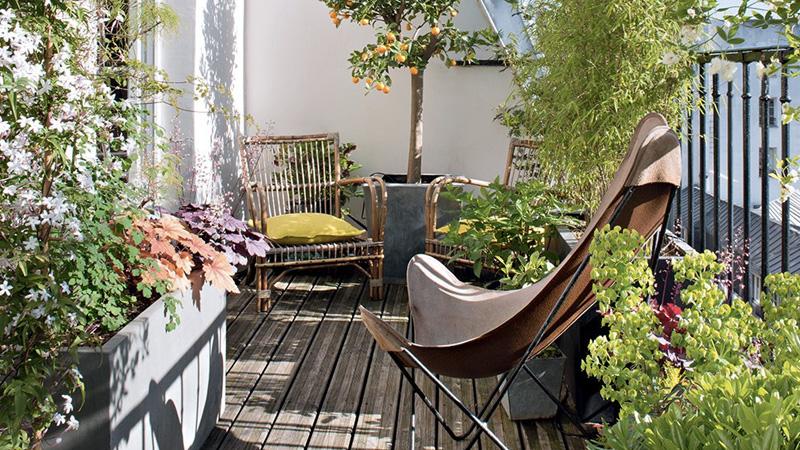 deco balcon printemps
