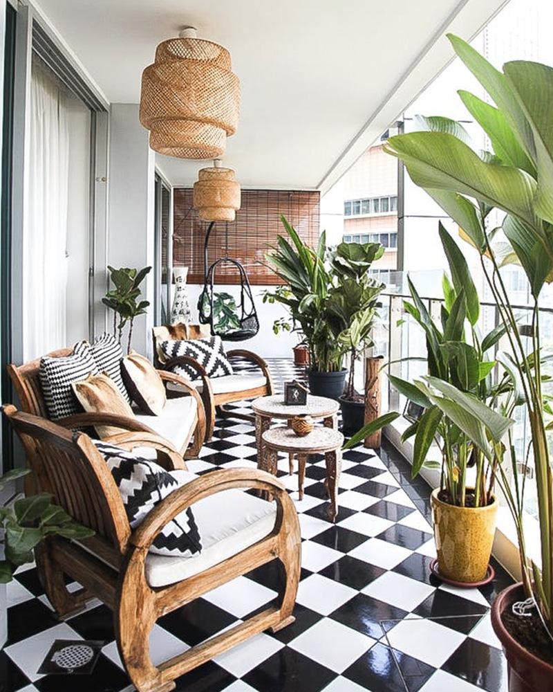 deco balcon printemps tropical