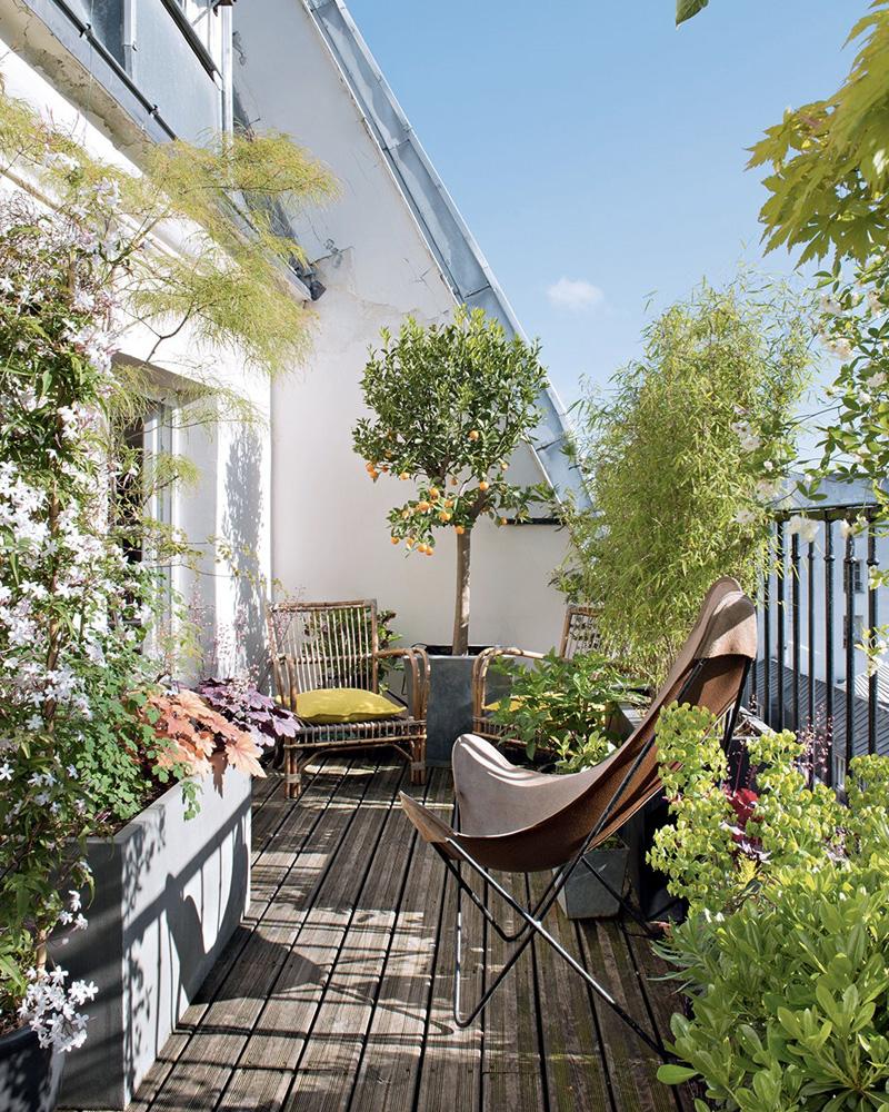 deco balcon printemps végétal