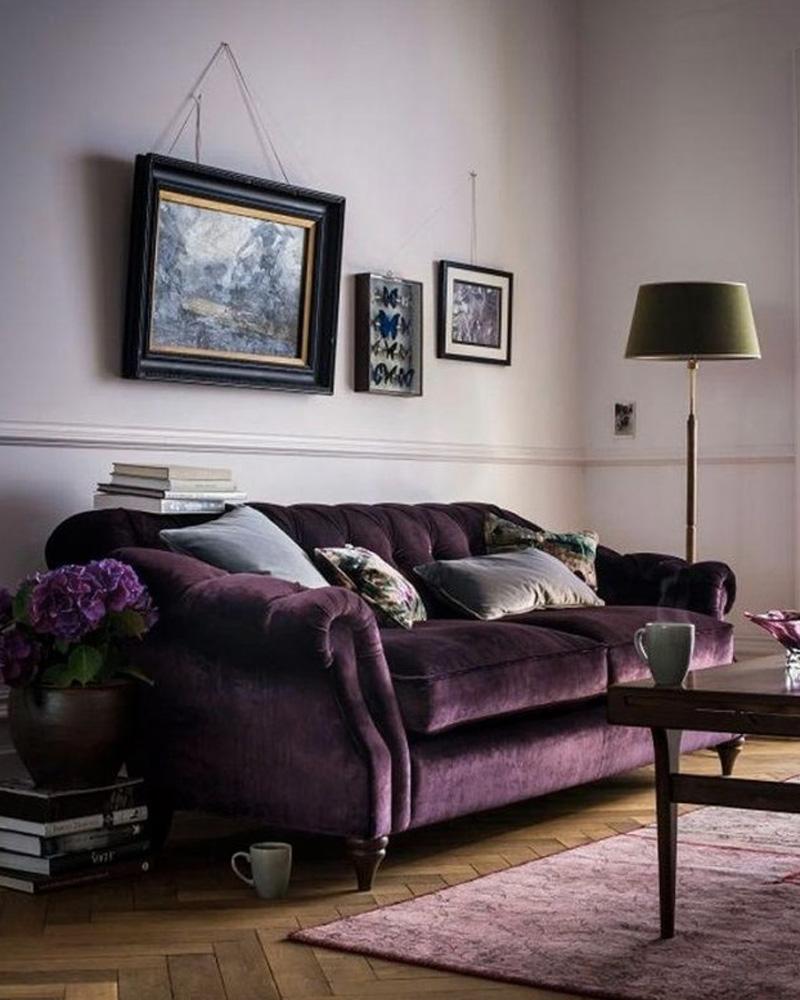 deco violet salon canapé