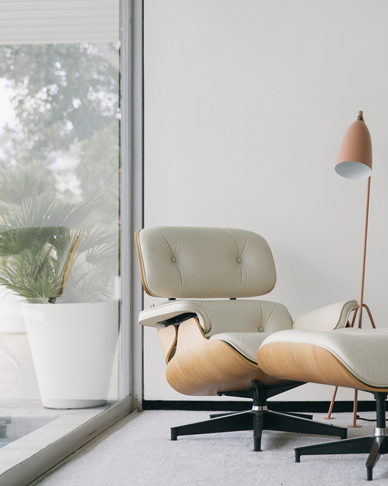 lounge chair eames blanc