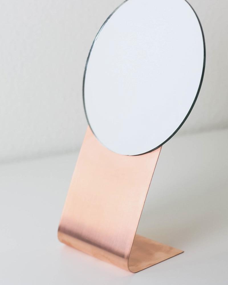 miroir diy à poser cuivre