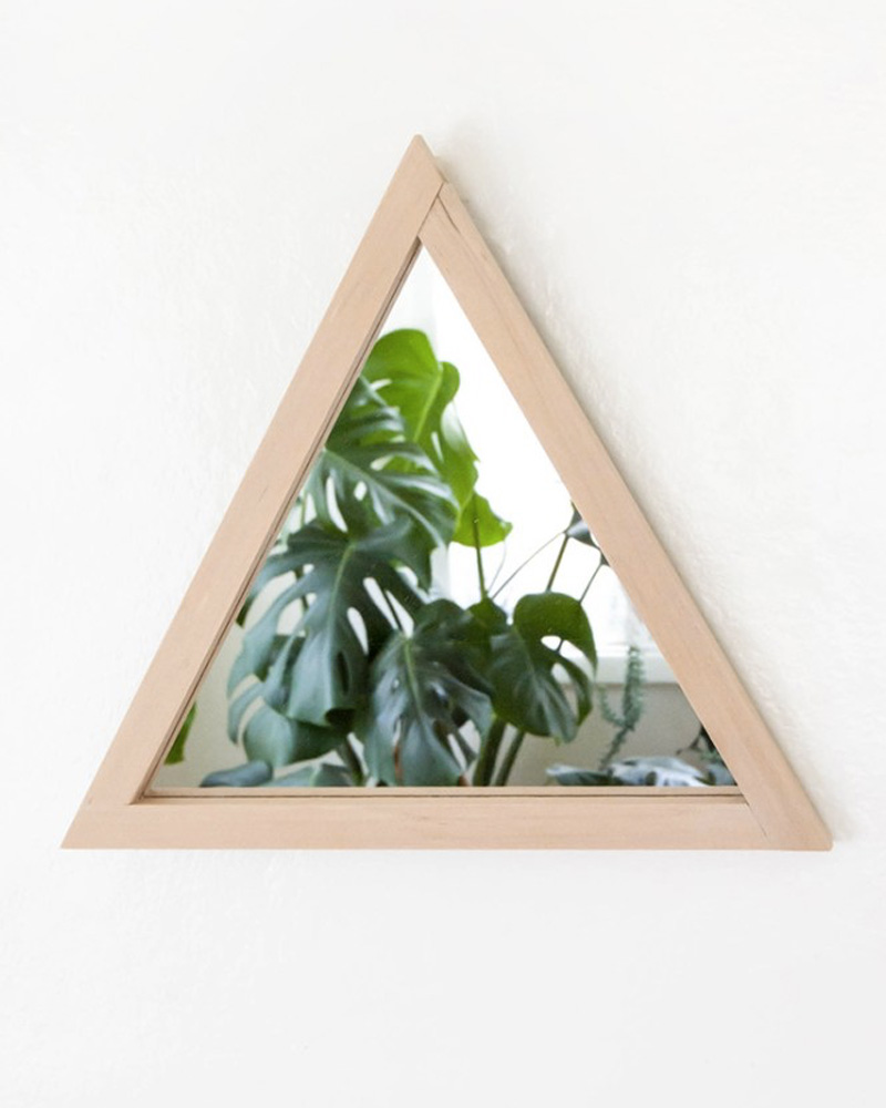 miroir diy mural triangle