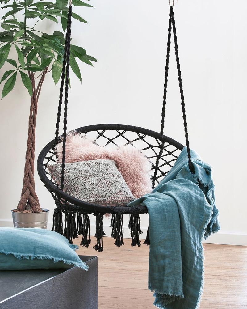 selection deco jardin fauteuil suspendu bohème