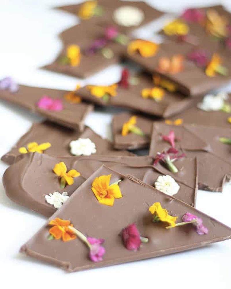 cadeau diy fete des meres savon chocolat fleur