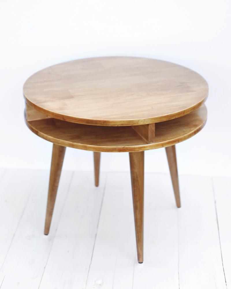 table basse diy ronde bois vintage