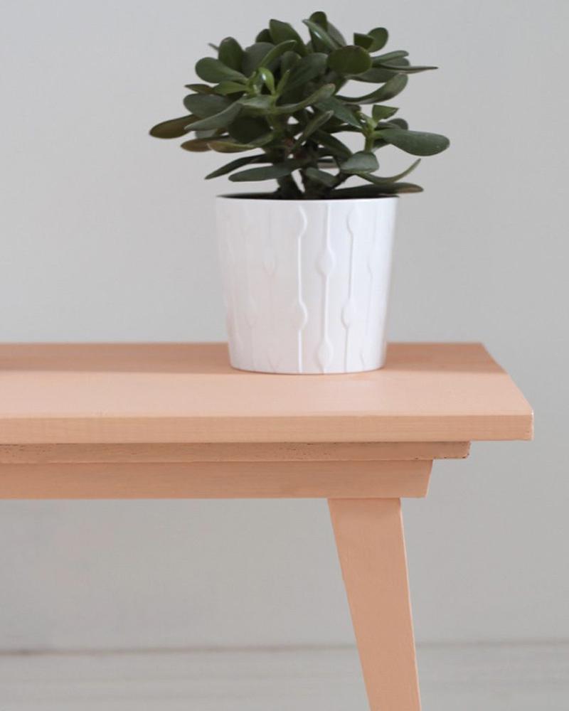 table basse diy colorée