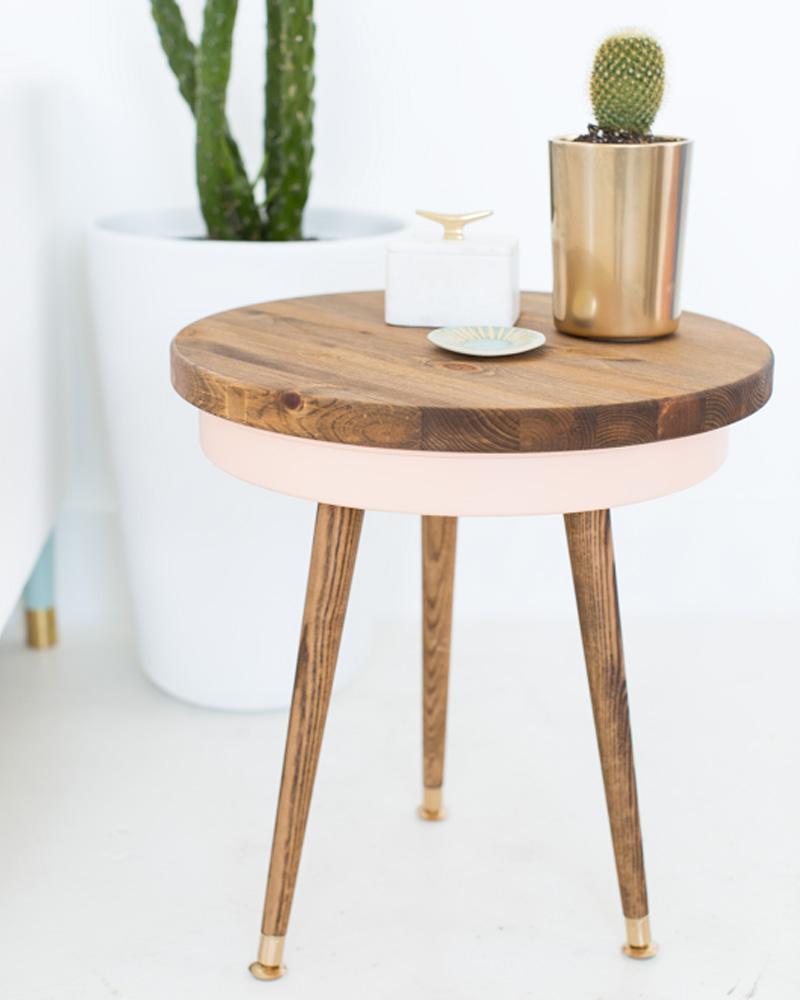 table basse diy ronde rétro