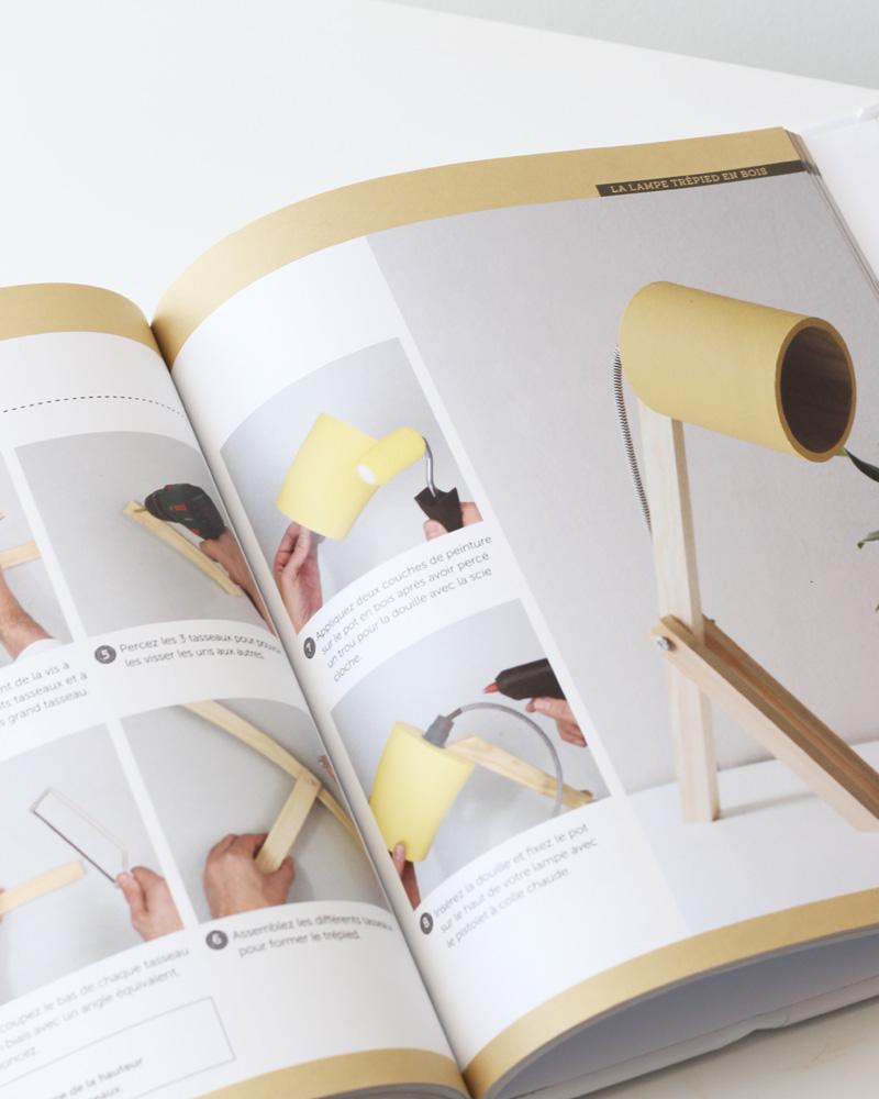 livre luminaires diy lampe bureau bois