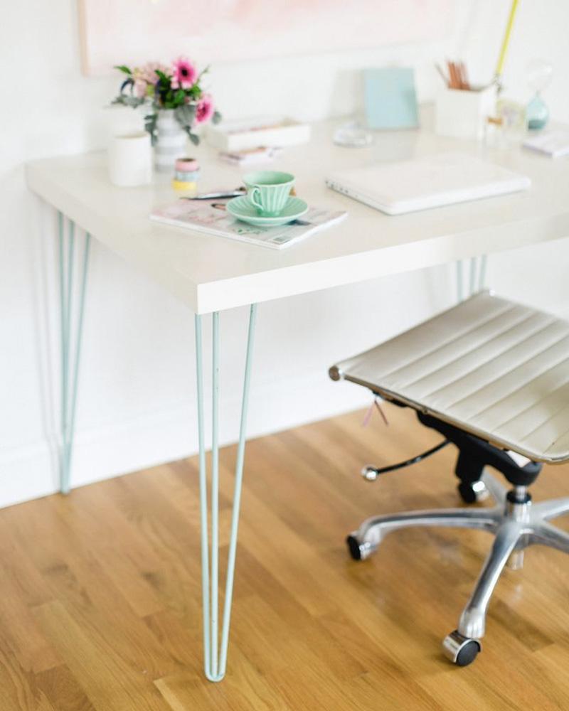 meuble pied metal bureau