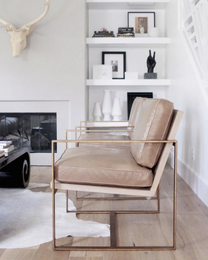 meuble pied metal fauteuil