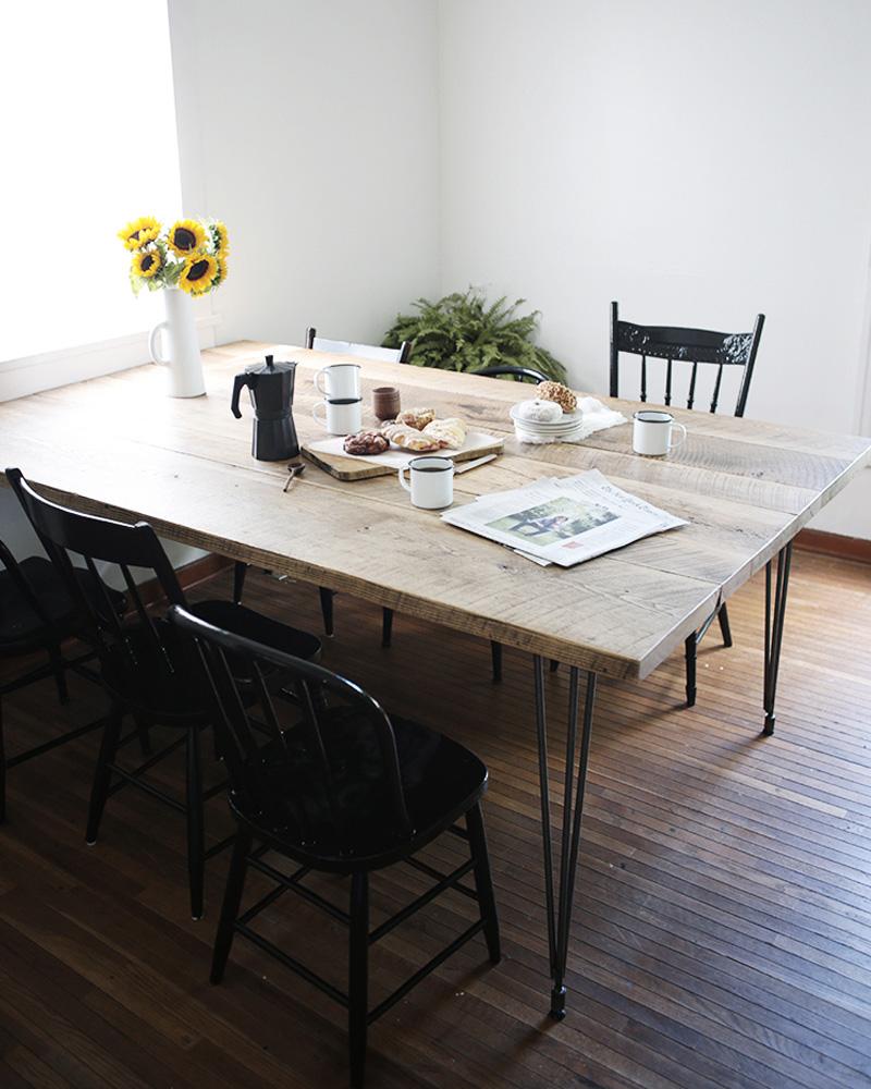 meuble pied metal table
