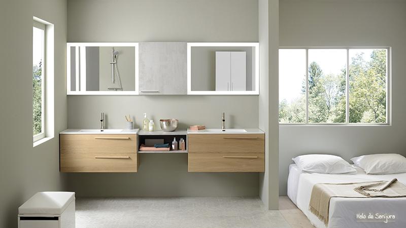 deco salle de bain bois blanc campagne