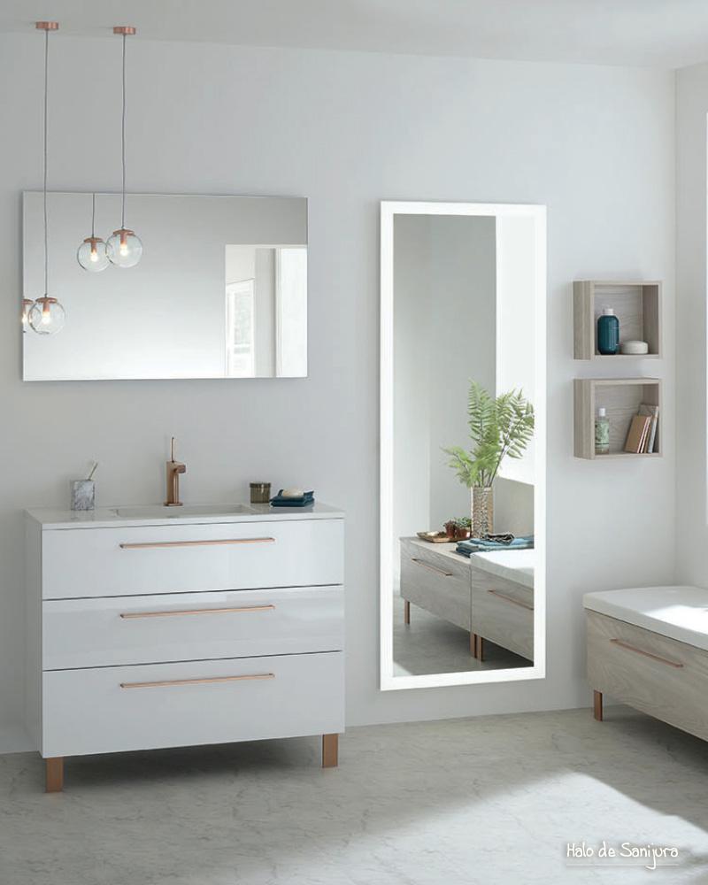 deco salle de bain blanc cuivre campagne